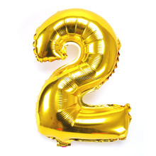 Free Shipping Letter Number 0-9 Gold Sliver Foil Balloon For Wholesale
