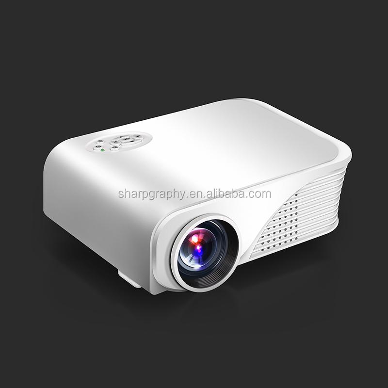 Wholesale 1500lumens cheap full hd 3d led mini projector for Cheap mini portable projector