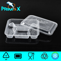 Rectangular four Compartments disposable takeaway food container