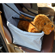 Blue car seat booster for dogs and cats pet car bag