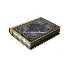 Christmas Book Shape Metal Box Tin Box For Packing & Decoration