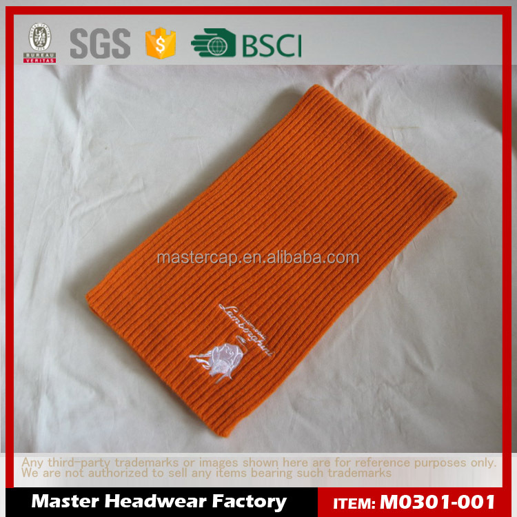 Promotional Scarf with Embroidery Logo