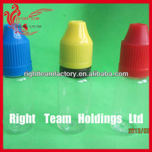 clear plastic flat dropper bottle with child proof lid