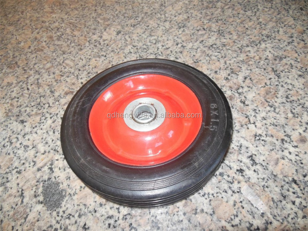 "Solid rubber wheel 6""x1.5"""