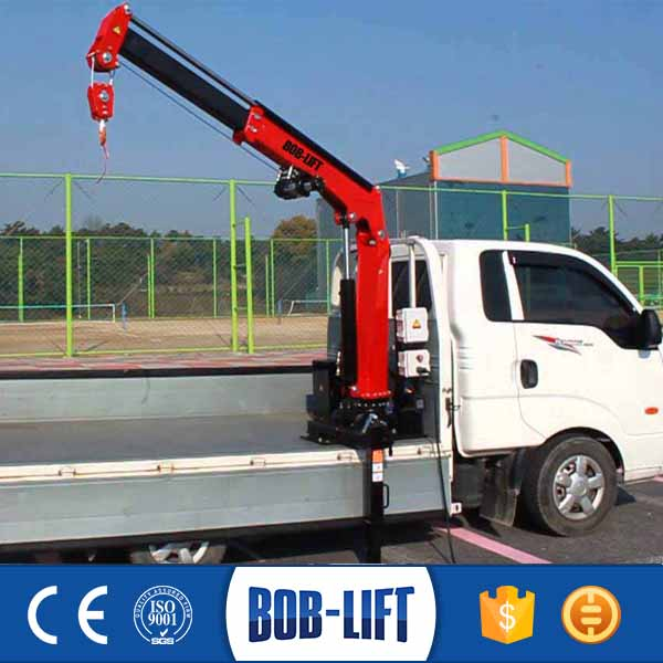 0.8t Lorry Truck Mounted Used Cargo Crane Truck Factory with CE for Sale