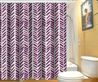 Polyester home goods bathroom window shower curtain