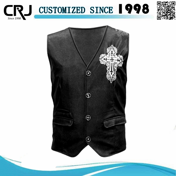 Custom Mens Motorcycle Leather Vest, Biker Vest