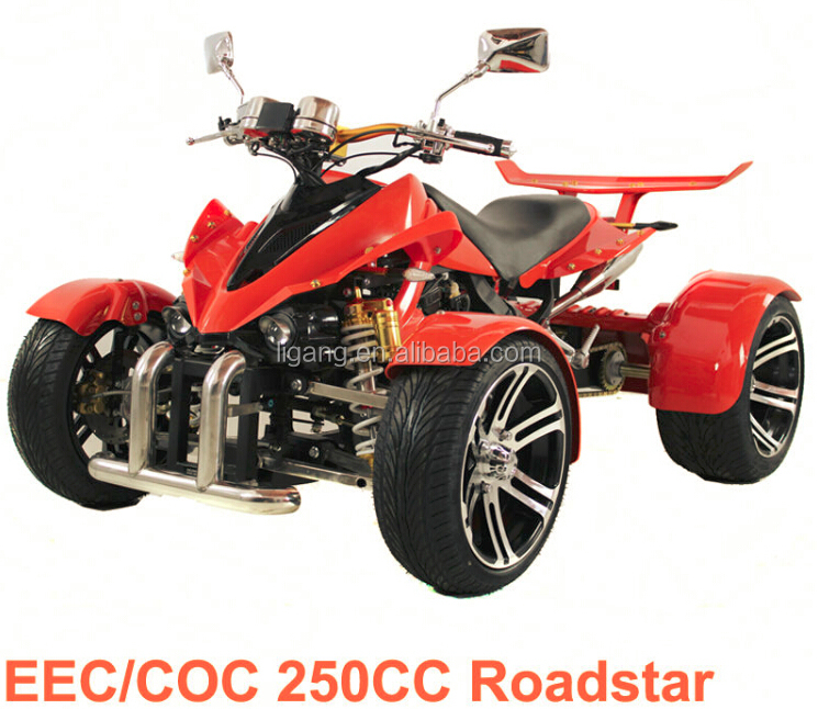 "Cheap 250CC ATV EEC ATV Water Cooled Racing Quad With 14"" Inch Alloy Wheel & Airbag Suspension"