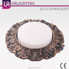 Zinc Alloy Ceiling Light, Downlight with Antique-Brass Style GX 53
