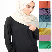 Grey polyester voile/cheap voile fabric islamic hijab voile scarf