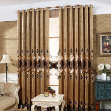 Luxury jacquard home goods curtain and drapes for decor home