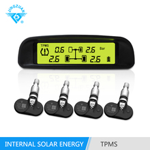 Wireless Solar energy environmental TPMS alarm tire pressure monitoring system for internal sensors