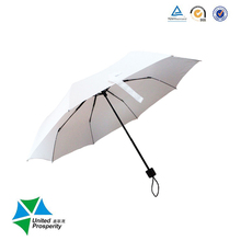 Hand open white gift umbrella promotion compact lightweight Umbrella