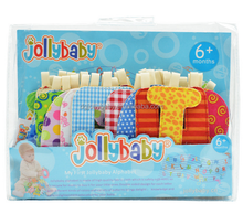 Jollybaby cloth English alphabet learning charts toys