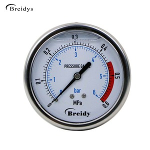 Explosion Proof Hydraulic Oil Stainless Mbar Low Pressure Gauge