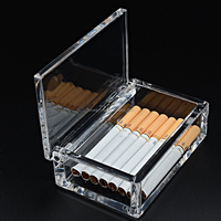 High end OEM/ODM manufacturer clear plastic acrylic cigarette box for cigarette gifts packing box wholesale