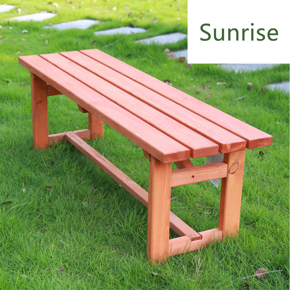 Custom antique garden wooden backless park bench for outdoor