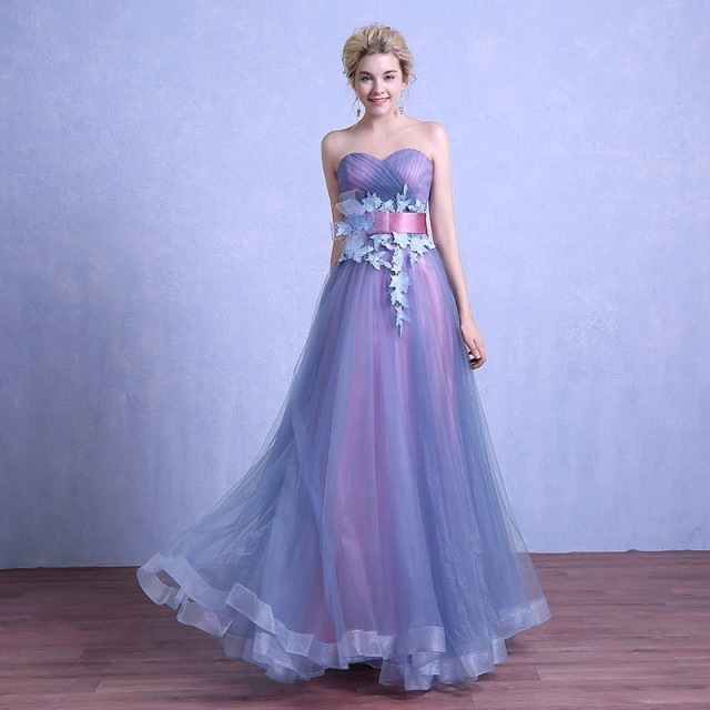 2017 New Collection High Quality Purple Floor-Length Off-Shoulder Sexy Bridesmaid Dress