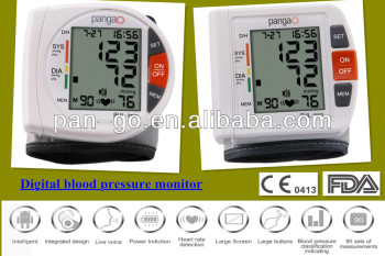 Talking BP monitor test blood pressure monitor /medical blood pressure monitor wrist type