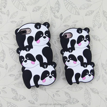 Mobile Phone Accessories Cartoon Back Cover For iPhone 8 8Plus 7 7Plus 6 6Plus Silicon Panda Rubber Cartoon Cellphone Case