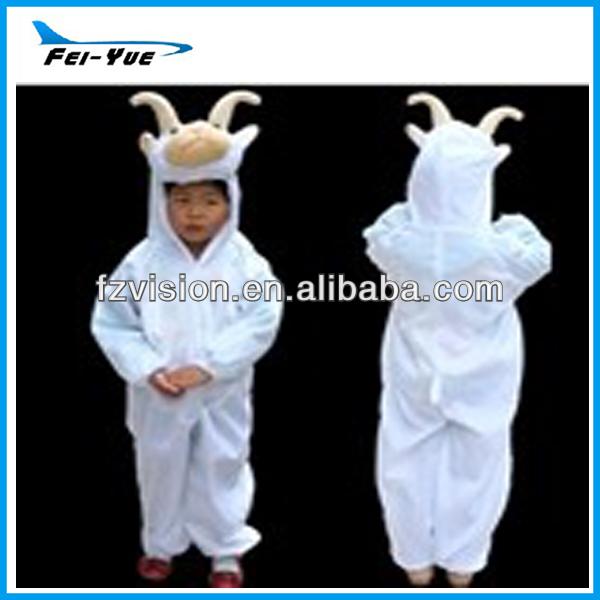 Hot Sale Lovely Plush Animal Costume Kids Goat Pajamas