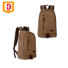 Wholesale Large Capacity Men's Casual Canvas Laptop Backpack Bag <strong>School</strong>