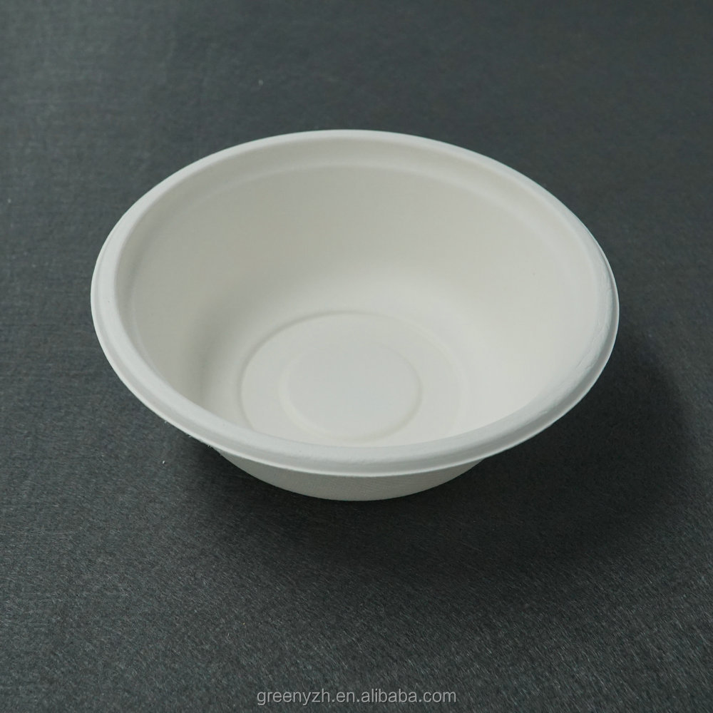 Disposable 500ml Microwave Safe Rice Paper Bowl Soup Product On Alibaba