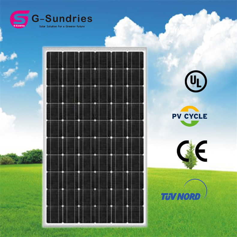 2015 best price mono solar panel black 300w 36v