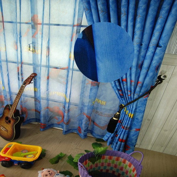 European Curtains 100 Polyester Window Curtains Cartoon Curtain Fabrics