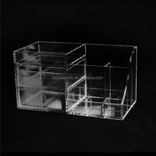 Acrylic Jewelry Brush Lipstick Holder Makeup Tool Storage Box Nail Polish Varnish Display Stand Rack Nail Polish Cosmetic Box