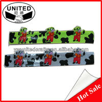 Cheap Slap Bands Rulers Reflective Promotional Snap Bracelet