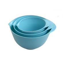 3 pcs bowl set/plastic bowl set/3pcs melamine salad mixing bowl