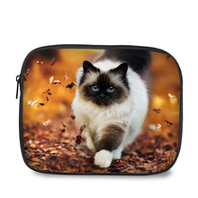 10 Inch fashion design universal case cat print portable tablet sleeve for Ipad