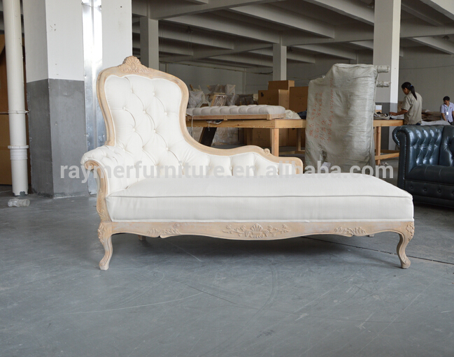 French Provincial Reproduction Style Wooden Tufted