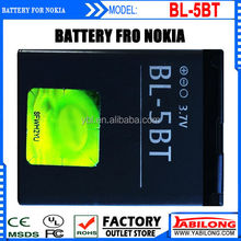 BL-5BT Lithium Rechargable 870mAh Mobile Cellphone Battery for Nokia 2608 2600c 7510a 7510s N75