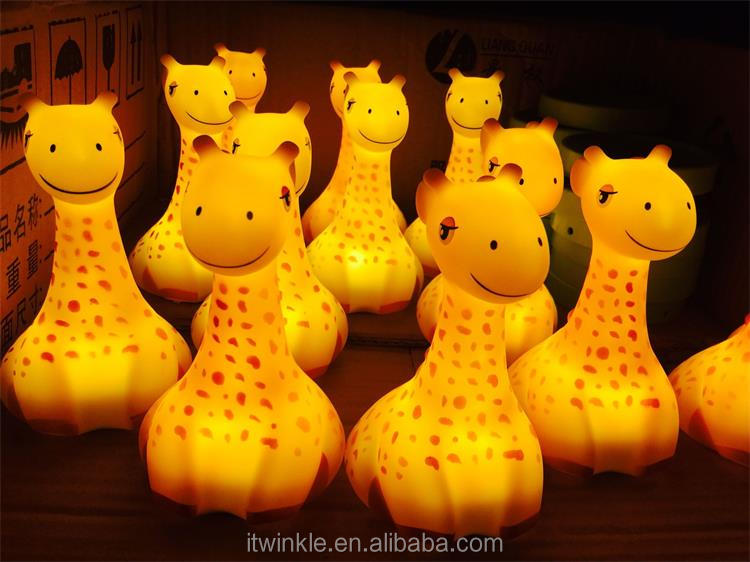 CE rohs Wireless rechargeable Giraffe night light and cute LED nite lights