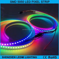 High quality ws2812b rgb led strip white pcb ip65/67/68