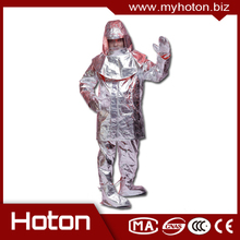 New design 1000degree centigrade aluminized fire suit aluminized fireman outfill fire protective suit with CE certificate
