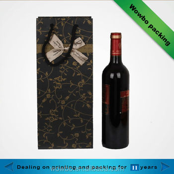 Newest gift paper bag wine bottle packaging