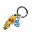 Bali Beach Souvenirs Popular Surf Board Keychains Metal Custom Surfing Keyring