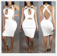 2016 Amzon wish bandage sexy dress women new arrival clothing