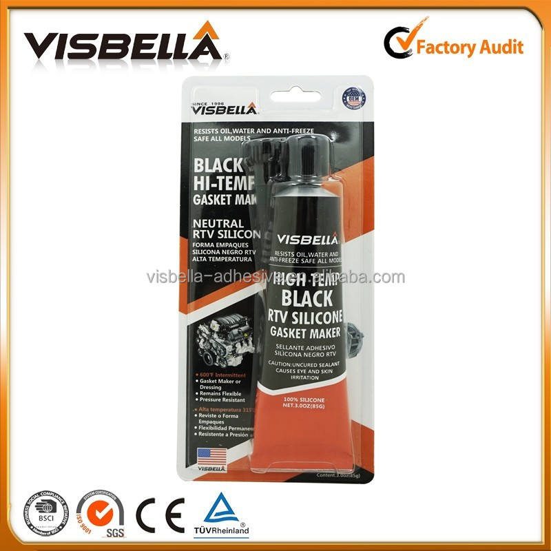 Visbella Black Color Super Quality RTV Silicon Sealant