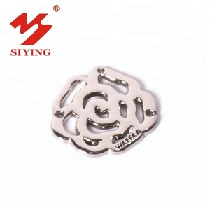 Wholesale silver flower shape metal clothing embellishments craft for garment