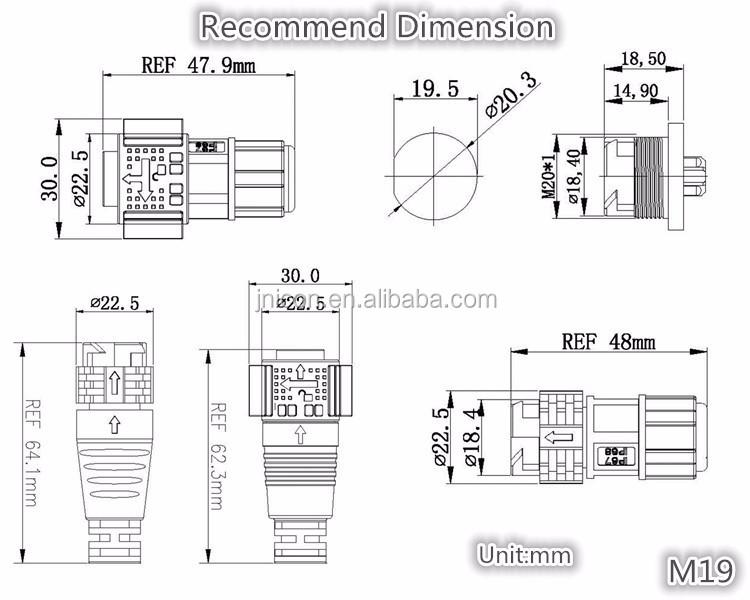 jnicon waterproof bulkhead electrical connector m19 buy waterproof rh alibaba com