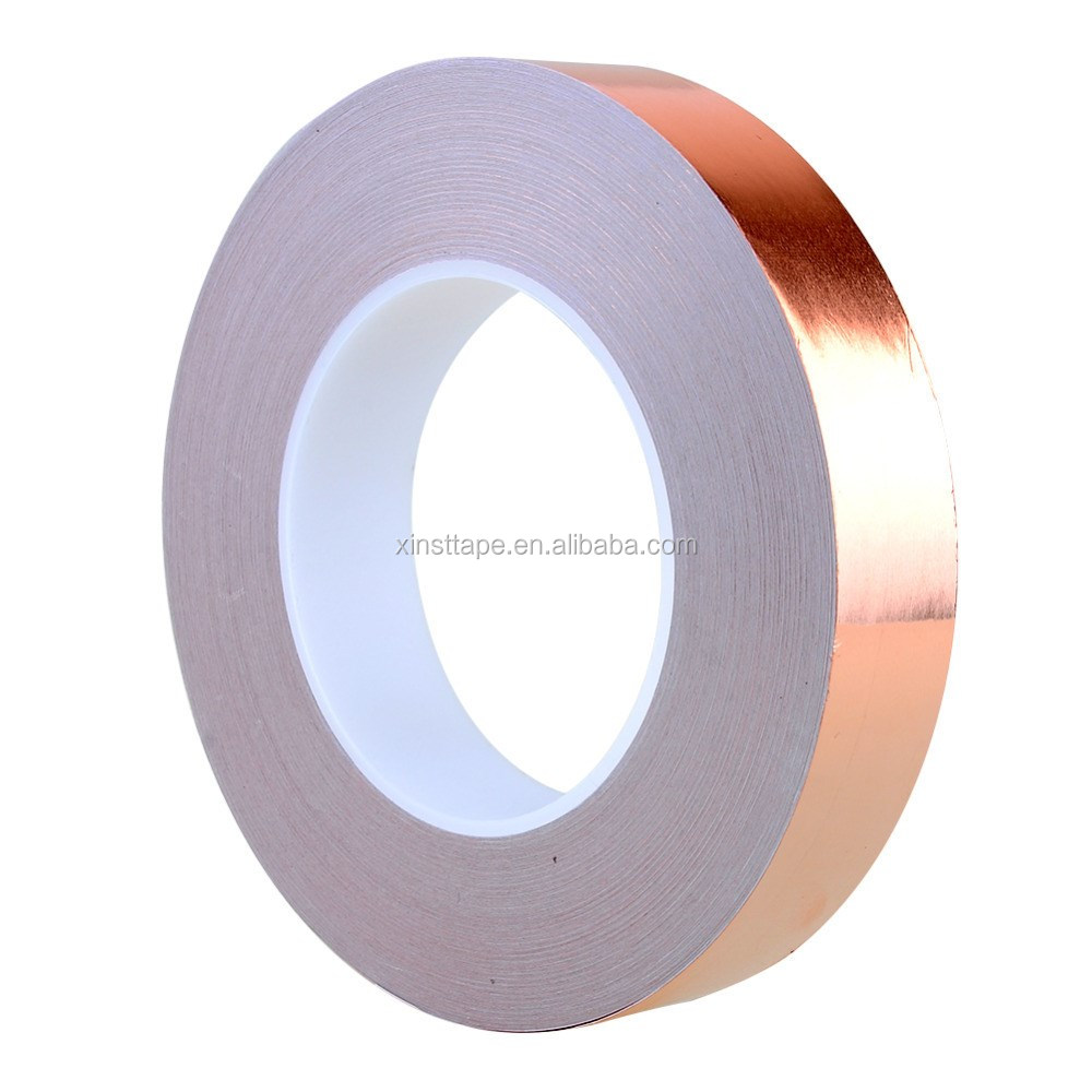 Customize Width Slug and Snail Barrier Copper Foil Tape For Stained Glass Work