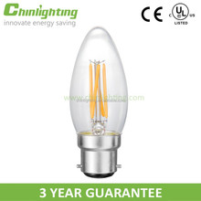 Decoration led filament candle bulb c35 e12 led filament incandescent light c35 e14 c35 led candle lamp candle bulb e14 24v