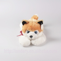 coffee plush sleeping dog stuffed husky dog toys soft animal toys for kids