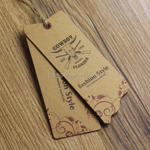 Personalized Ladies garment dress paper clothes hang tag(A-229)