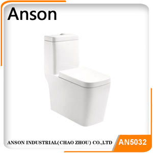 Square sitting toilet bowl,siphonic one pieces toilet single flush