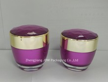 30/50g diamond top flat acrylic cosmetic empty jars for personal care